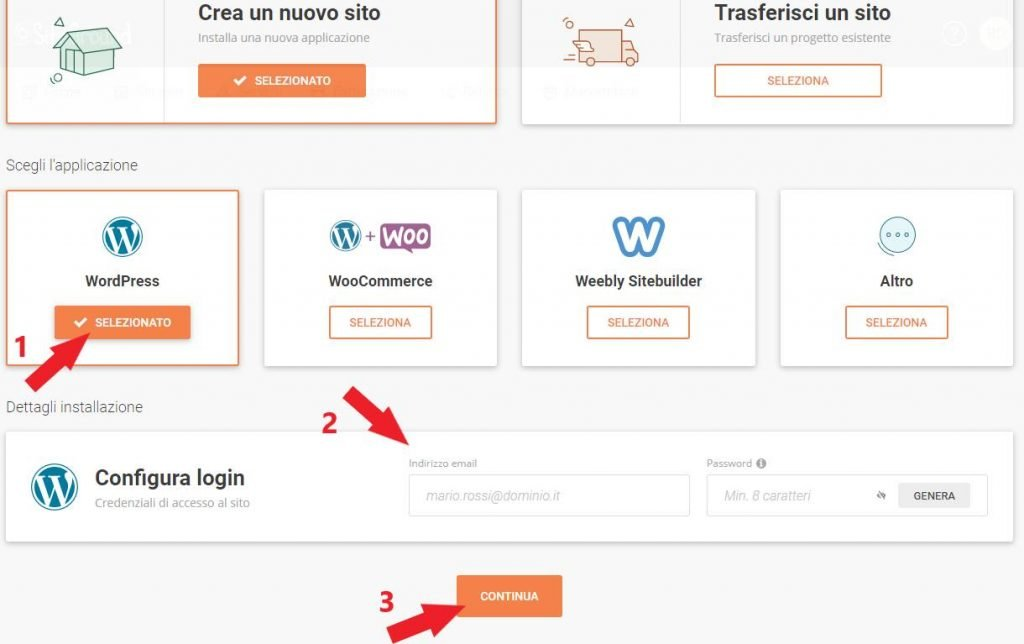 configura login wordpress